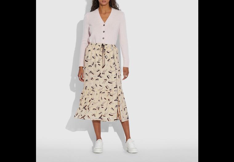 Brushstroke Plaid Skirt