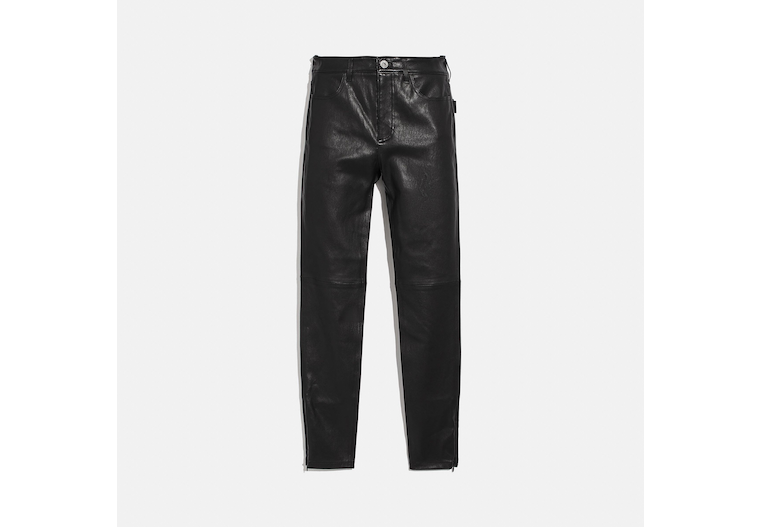 Stretch Leather Pants image number 0