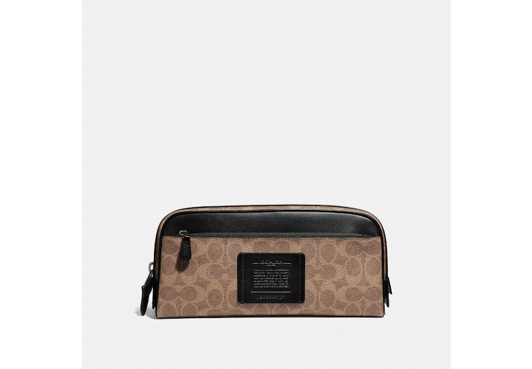 Double Zip Dopp Kit In Signature Canvas image number 0
