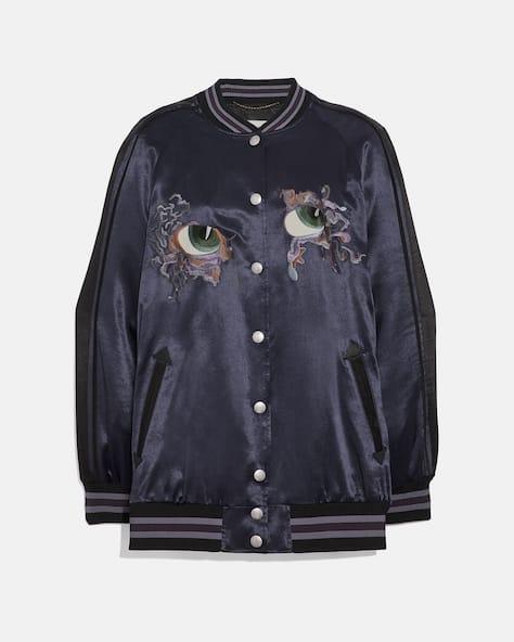 Oversized Souvenir Varsity Jacket