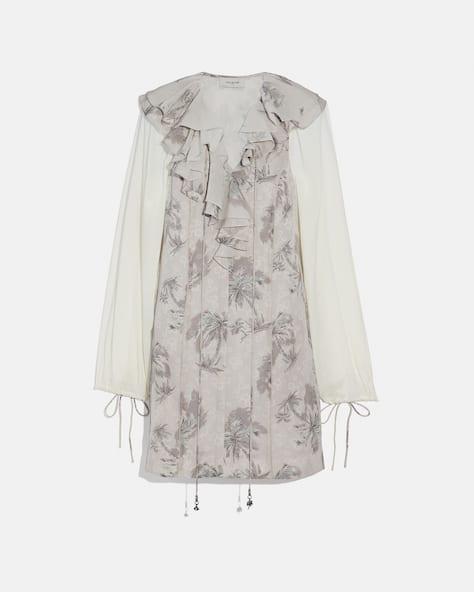 Palm Tree Print Mini Dress