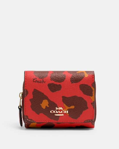 Small Trifold Wallet With Leopard Print