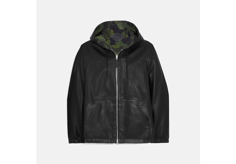 Reversible Hooded Leather Trainer image number 0