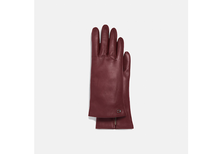 Sculpted Signature Leather Tech Gloves image number 0