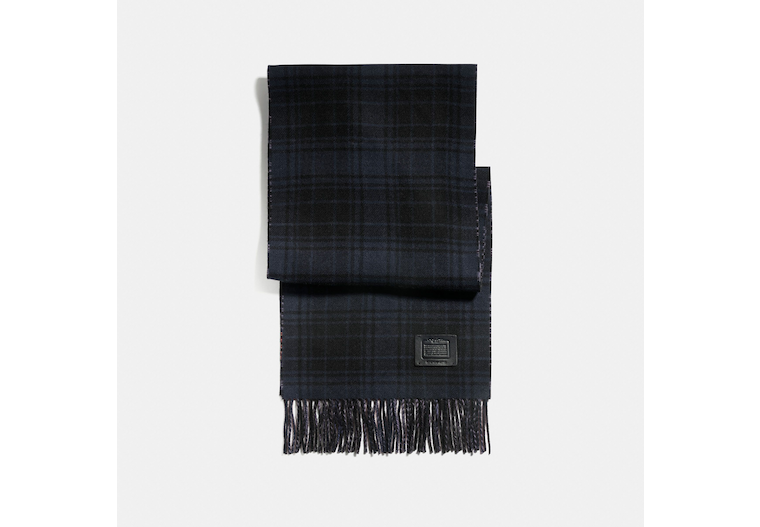 Double Plaid Print Muffler image number 0