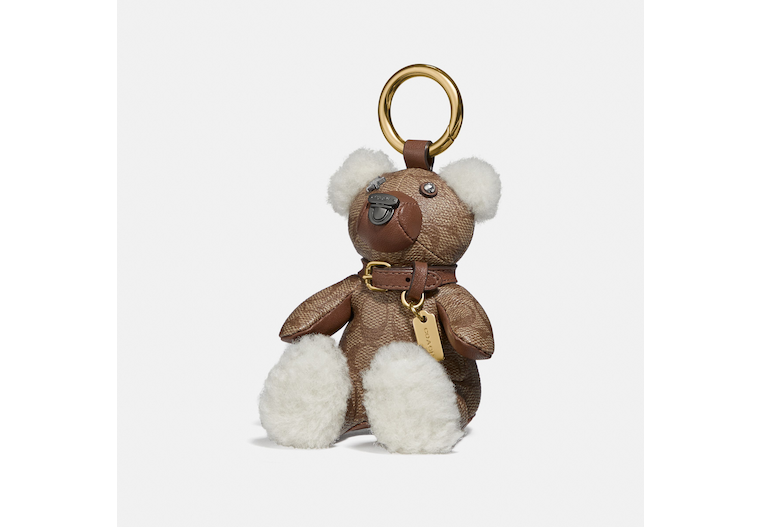 Bear Bag Charm In Signature Canvas image number 0