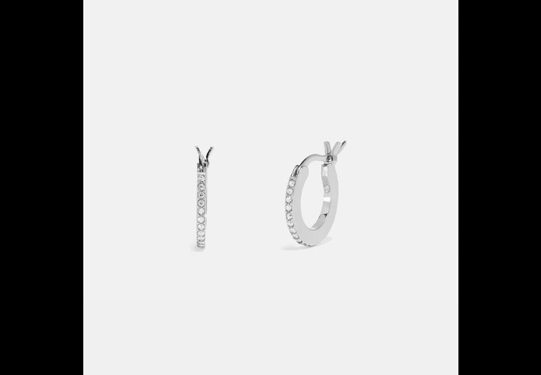 Pave Huggie Earrings image number 0
