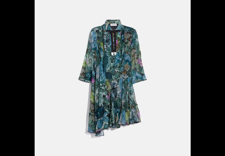 Asymmetrical Dress With Kaffe Fassett Print image number 0