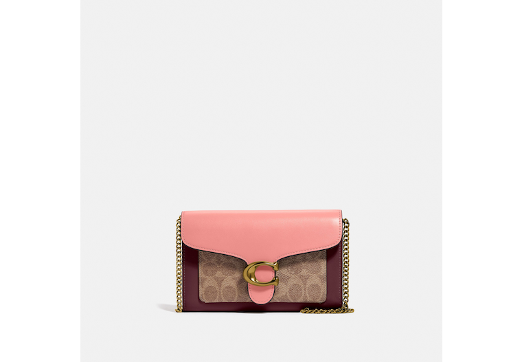 Tabby Chain Clutch In Colorblock Signature Canvas image number 0