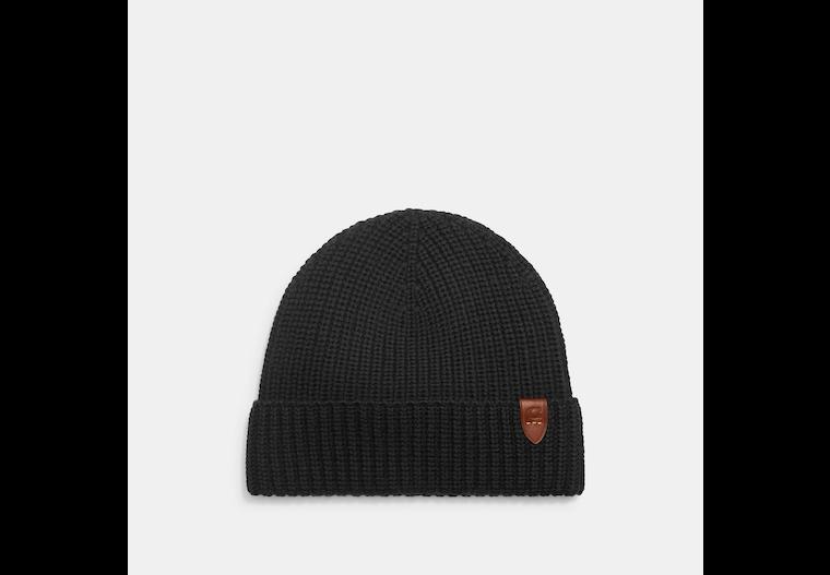 Rib Knit Merino Wool Hat image number 0