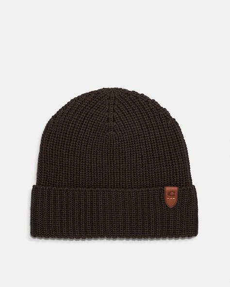 Chapeau en tricot côtelé de laine mérinos