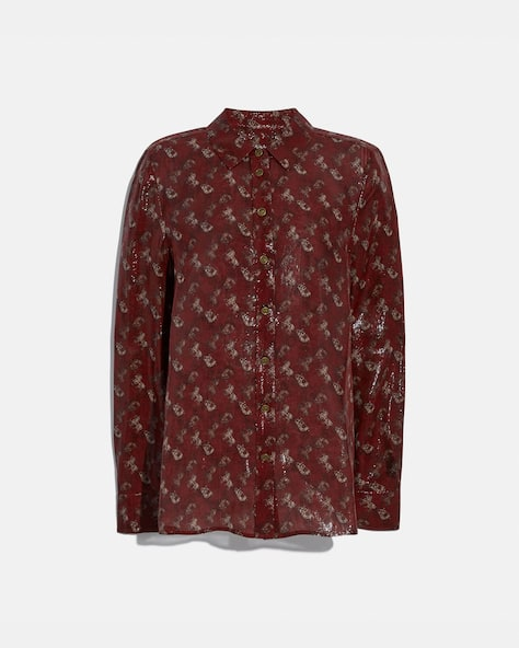 Lunar New Year Horse And Carriage Print Shirt