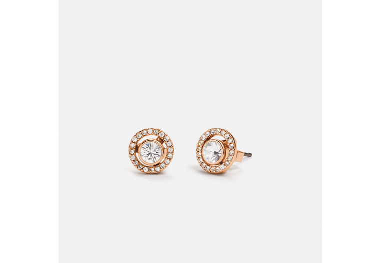Halo Pave 2 In 1 Stud Earrings image number 0