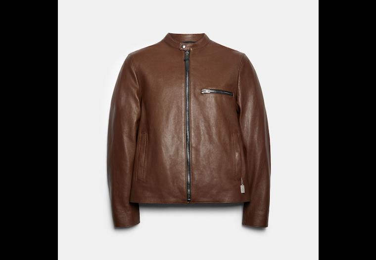 Leather Racer Jacket image number 0