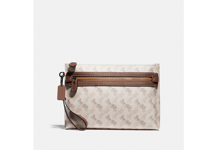 Academy Pouch With Horse And Carriage Print image number 0