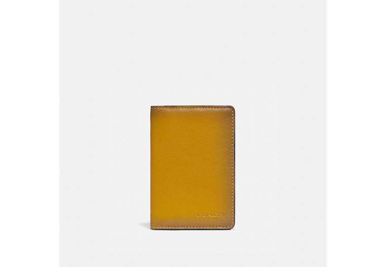 Card Wallet In Colorblock With Signature Canvas Detail image number 0