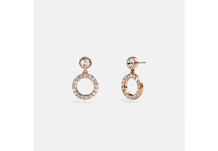 Halo Pave Drop Stud Earrings image number 0