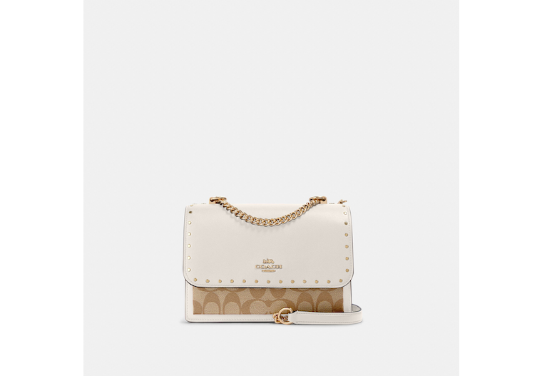 Klare Crossbody In Signature Canvas With Rivets image number 0