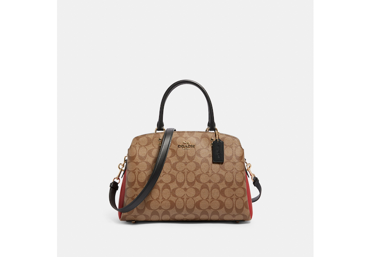 Lillie Carryall In Colorblock Signature Canvas image number 0