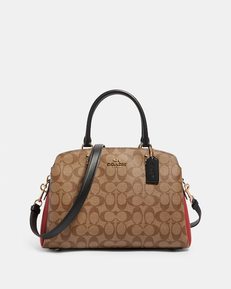 Lillie Carryall In Colorblock Signature Canvas