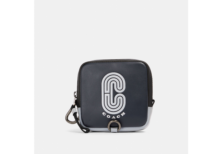 Square Hybrid Pouch With Reflective Coach Patch image number 0