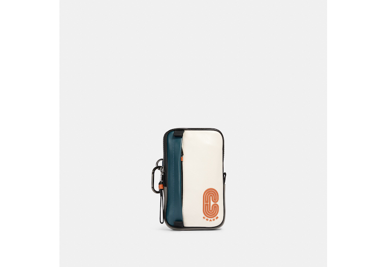 North/South Hybrid Pouch In Colorblock With Coach Patch image number 0