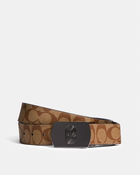 Plaque Buckle Cut To Size Reversible Belt, 38 Mm