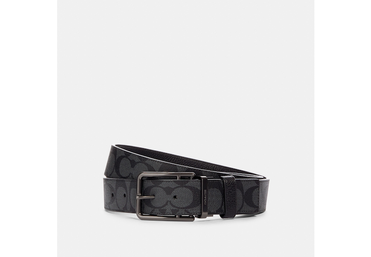 Double Bar Buckle Cut To Size Reversible Belt, 38 Mm image number 0