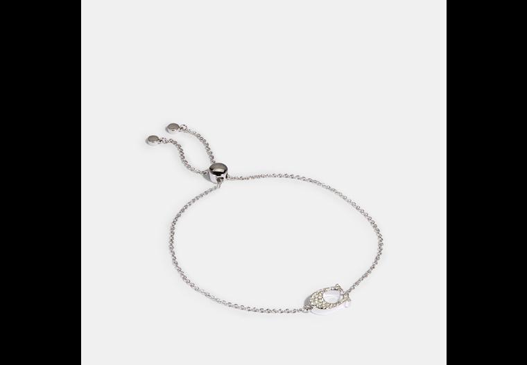 Pave Signature Slider Bracelet image number 0
