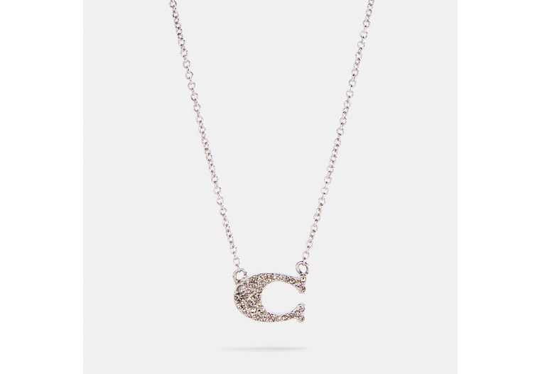 Pave Signature Necklace image number 0