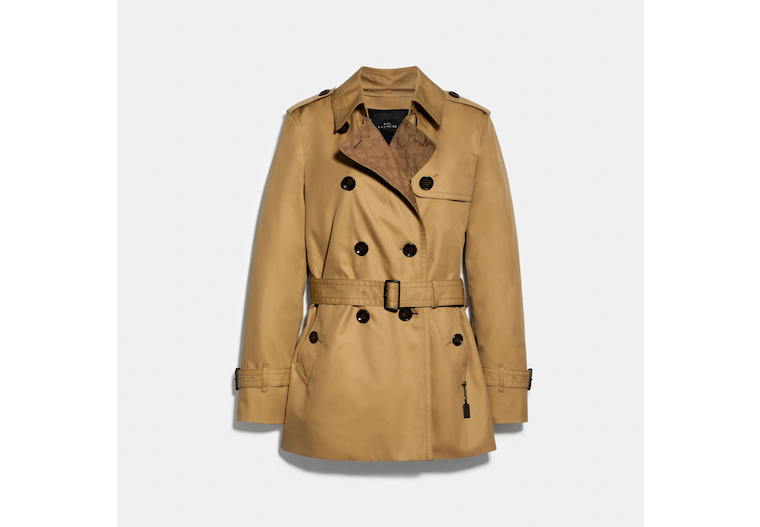 Signature Lapel Short Trench image number 0