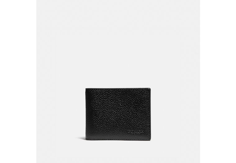 Slim Billfold Wallet With Signature Canvas Detail image number 0
