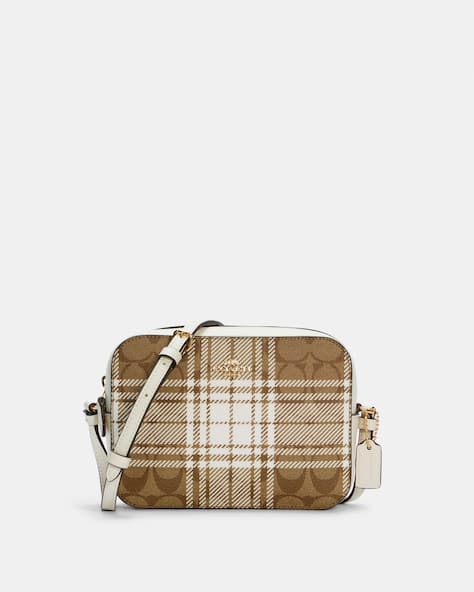 Mini Camera Bag In Signature Canvas With Hunting Fishing Plaid Print