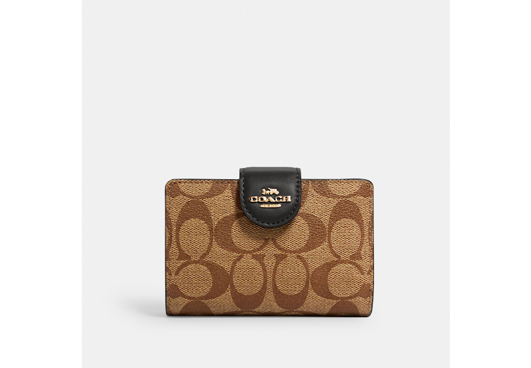 Medium Corner Zip Wallet In Signature Canvas image number 0