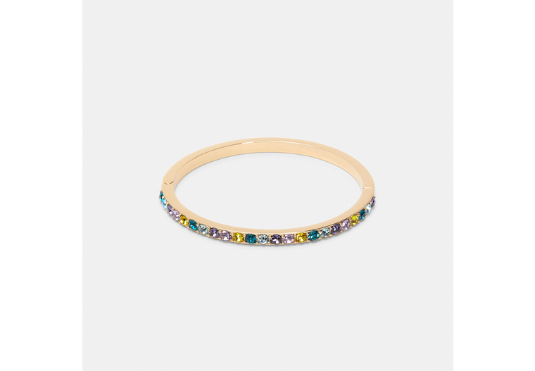Colored Stones Hinged Bangle image number 0