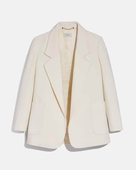 Open Front Wool Blazer