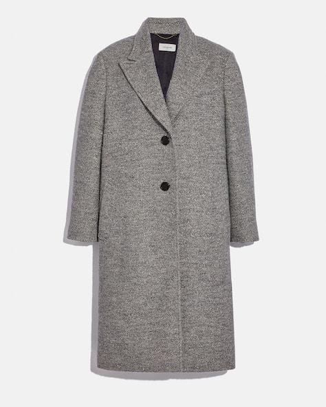 Herringbone Oversized Coat