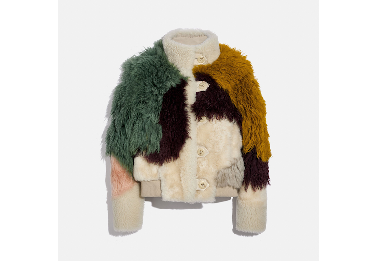 Pieced Shearling Blouson image number 0