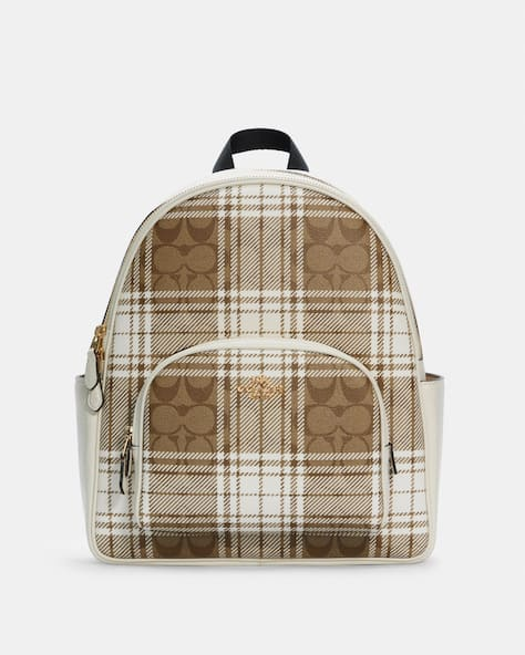 Court Backpack In Signature Canvas With Hunting Fishing Plaid Print
