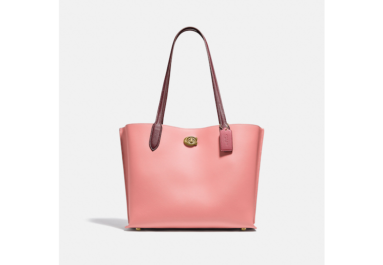 Willow Tote In Colorblock With Signature Canvas Interior image number 0