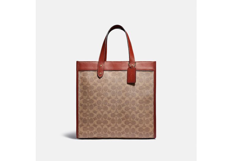 Field Tote In Signature Canvas With Horse And Carriage Print image number 0