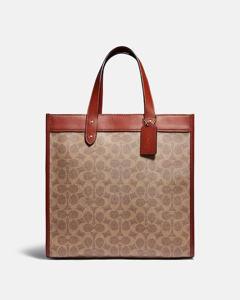 Field Tote In Signature Canvas With Horse And Carriage Print
