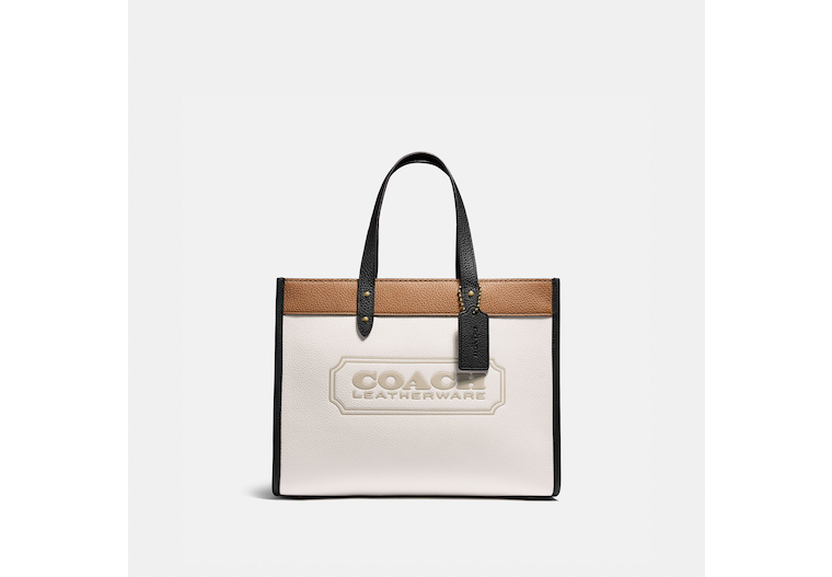 Field Tote 30 In Colorblock With Coach Badge image number 0