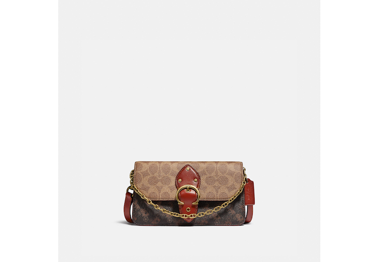 Beat Crossbody Clutch In Signature Canvas With Horse And Carriage Print image number 0