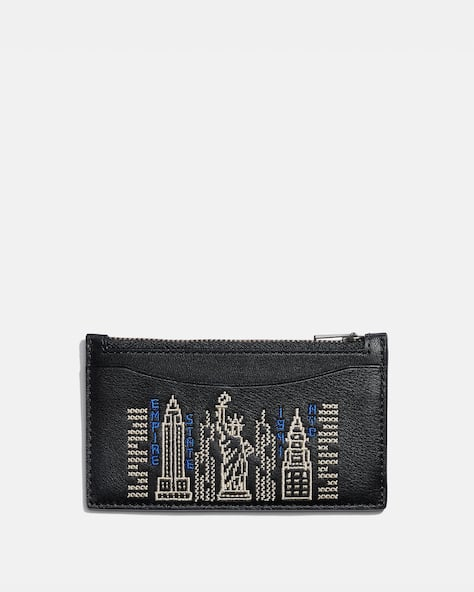 Zip Card Case With Stardust City Skyline