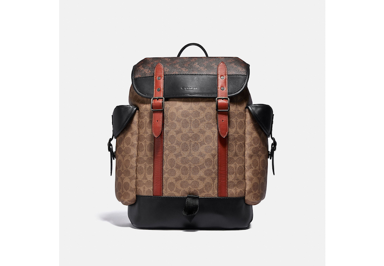 Hitch Backpack In Signature Canvas With Horse And Carriage Print image number 0