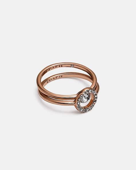 Halo Pave Ring Set