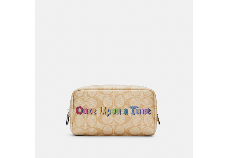 Disney X Coach Small Boxy Cosmetic Case In Signature Canvas With Once Upon A Time image number 0