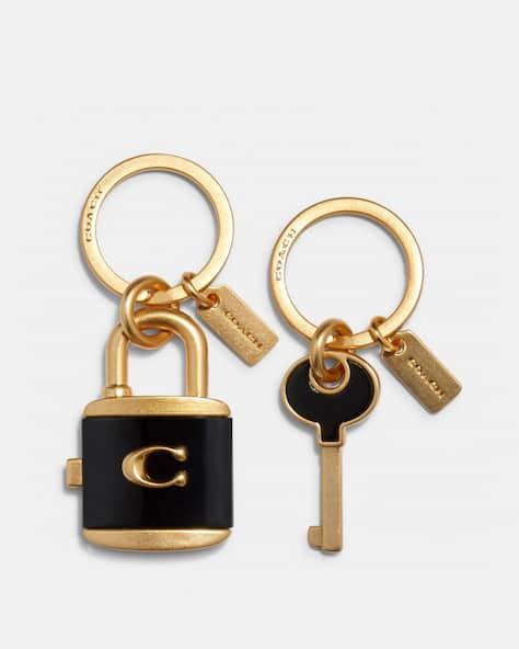 Lock And Key Bag Charm Key Ring