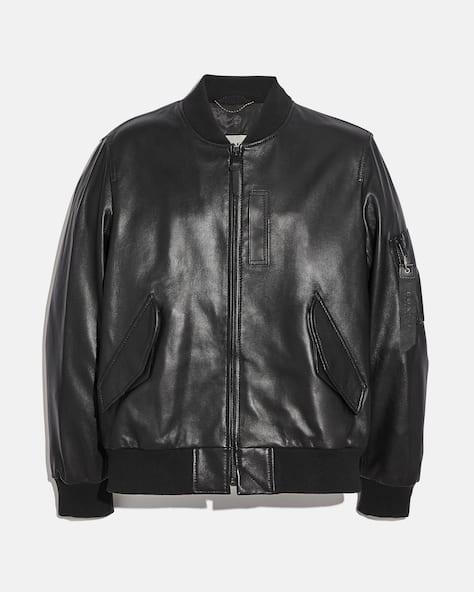 Leather Ma 1 Jacket